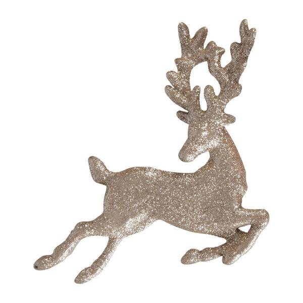 Hanging Deer Strass Gold