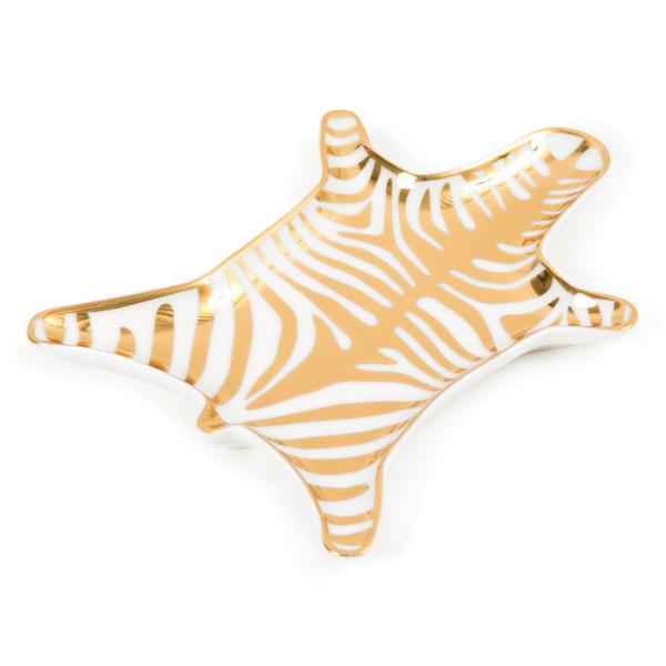 Zebra Stacking Dish Gold