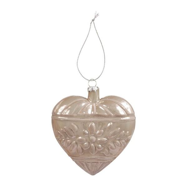 Hanging Heart Noel Silver