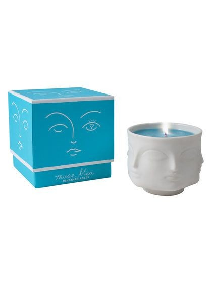 Muse Bleu Ceramic Candle