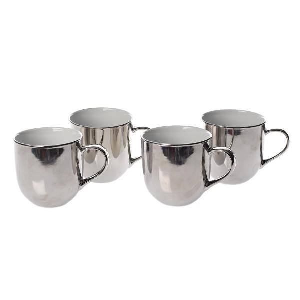 Mugs Silver Outside 4er Set