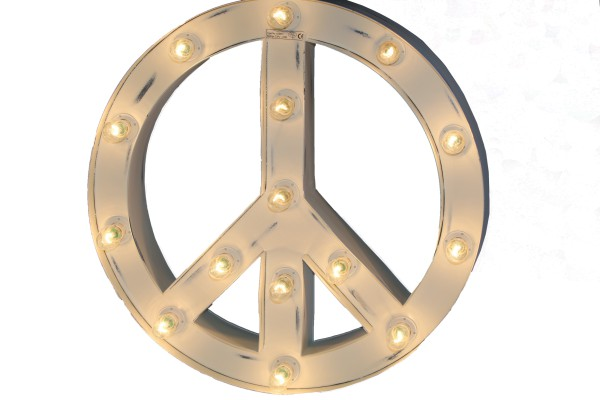 Wandlampe PEACE SIGN Weiss