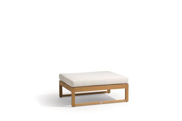 Siena Teak Lounge Large Footstool/Sidetable