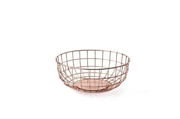 Norm Korb Wire Bowl metallic Kupfer