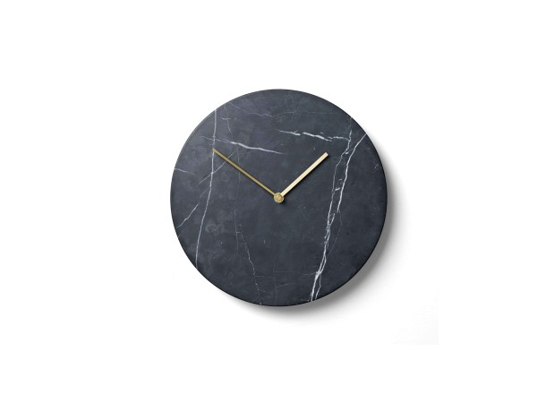 Wanduhr Marble schwarz