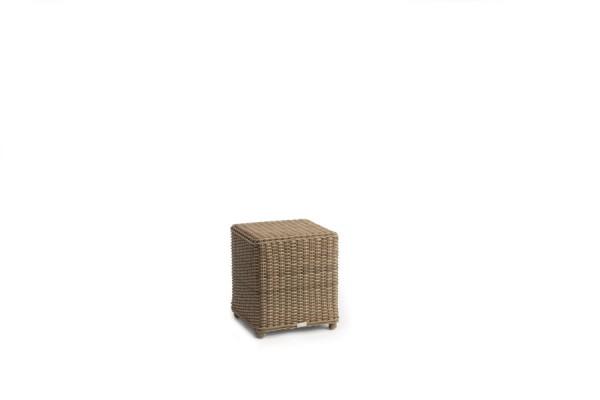 San Diego Cord Small Footstool/Sidetable