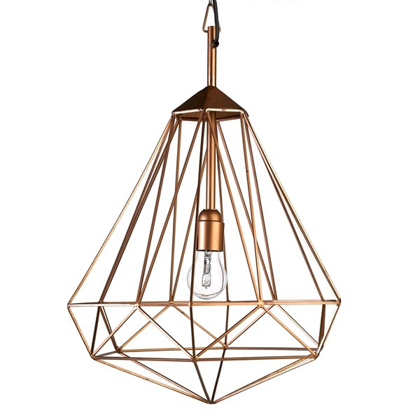 Diamond Lamp M Kupfer