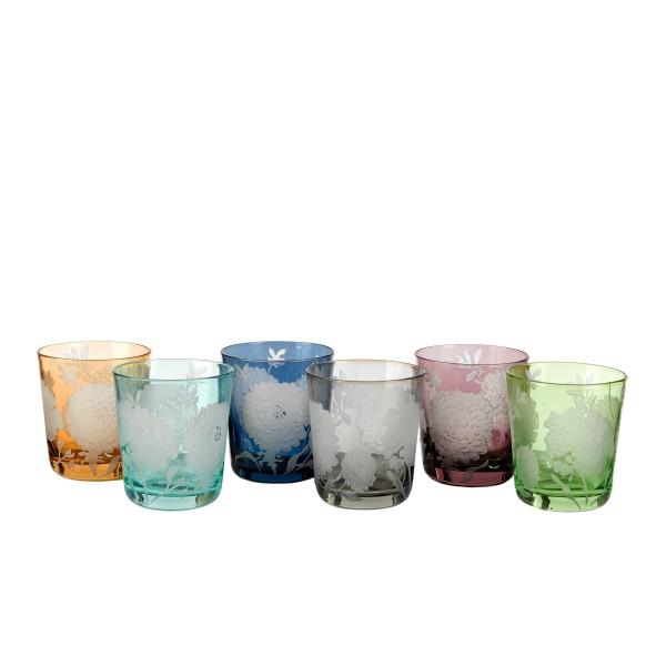 Glass Peony 6er Set