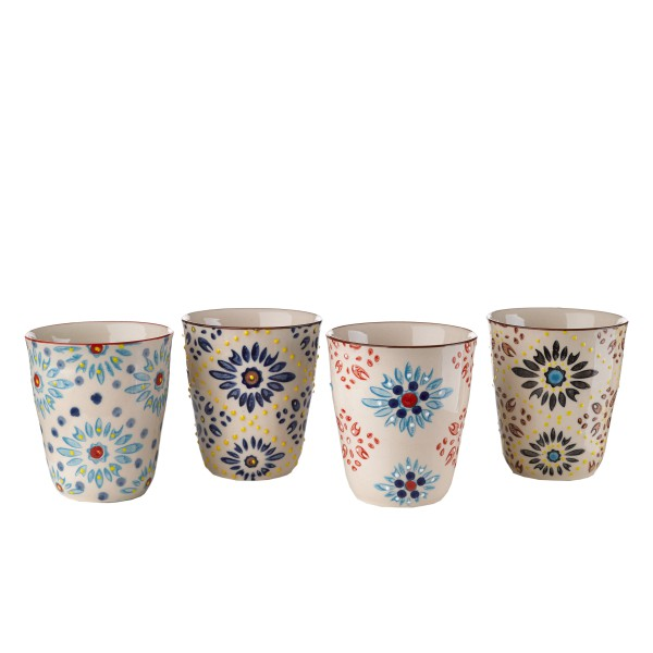 Tassen Mosaic Flower 4er Set