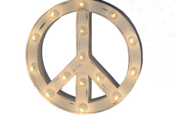 Wandlampe PEACE SIGN Weiss