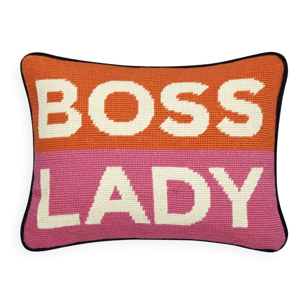 UK Needlepoint Kissen - Boss Lady