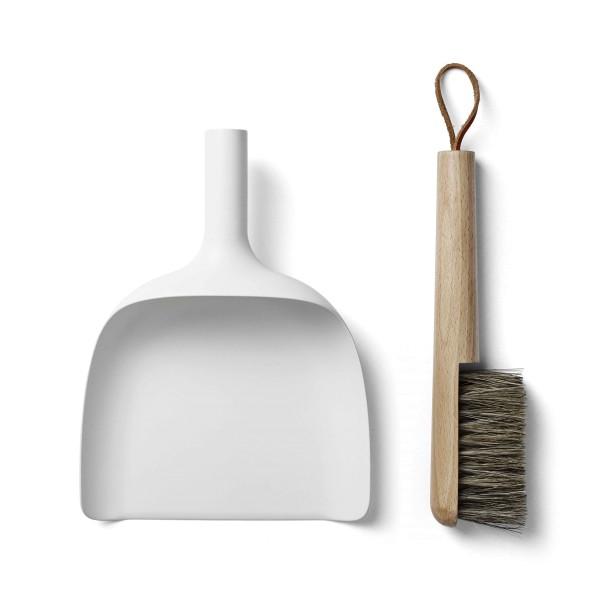 Kehrbesen-Set Sweeper & Funnerl weiß