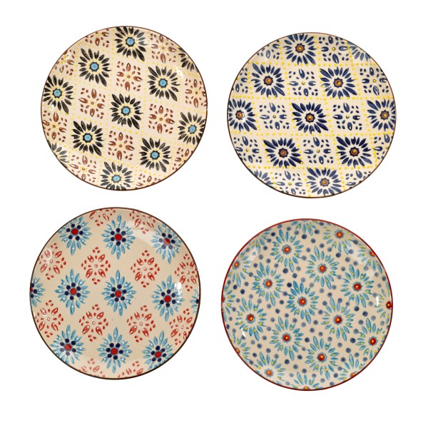 Teller Mosaic Flower 4er Set